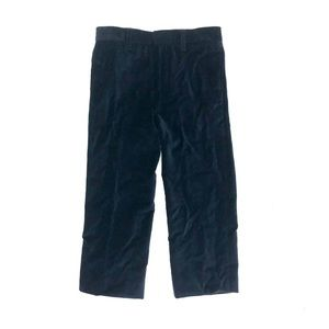 Burberry navy velvet pants, size 6